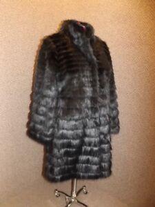 b1076b9c2 Image is loading Fabulous-Furs-NEW-Gorgeous-Fluid-Black-Horizontal-Knee-