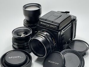 LOOK Mamiya RB67 Pro S Sekor 90mm 250mm C 127mm 3Lens Set From Japan