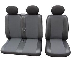 Autositzbezüge Volkswagen T-5 BUS ab 03 6-Sitze Grau Transporter Sitzbezüge Set