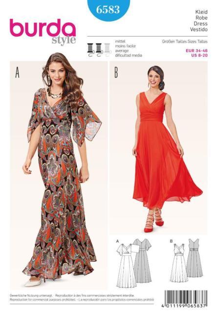 Schnittmuster Burda 6583 Damenkleid Gr. 34-46 | eBay