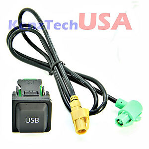 VW OEM USB Switch amp Cable Fits VW GOLF JETTA MK5 MK6 RADIO