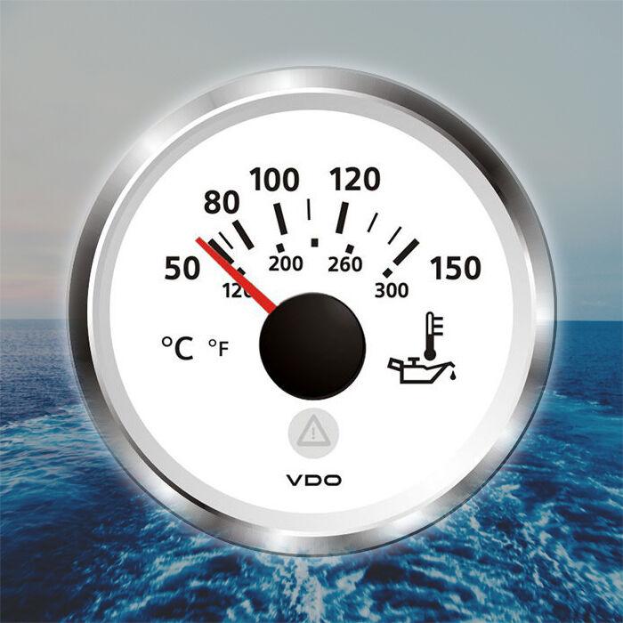 VDO Viewline Motor Öltemperatur Anzeige 52mm 2