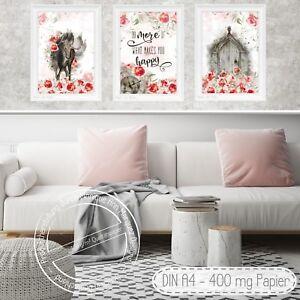 Shabby-Chic-Art-Landhaus-Stil-Wandbilder-Kunstdrucke-Bilder-Fine-Art-Print-S-35