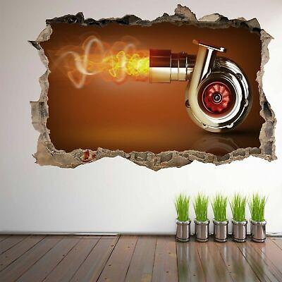 Gears 3D Wall Art Autocollant Mural Decal Affiche Maison Bureau Garage DECOR GE16