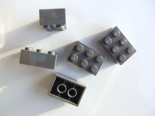 5 x Lego Grey brick Parts /& Pieces size 2x3 - 4211105