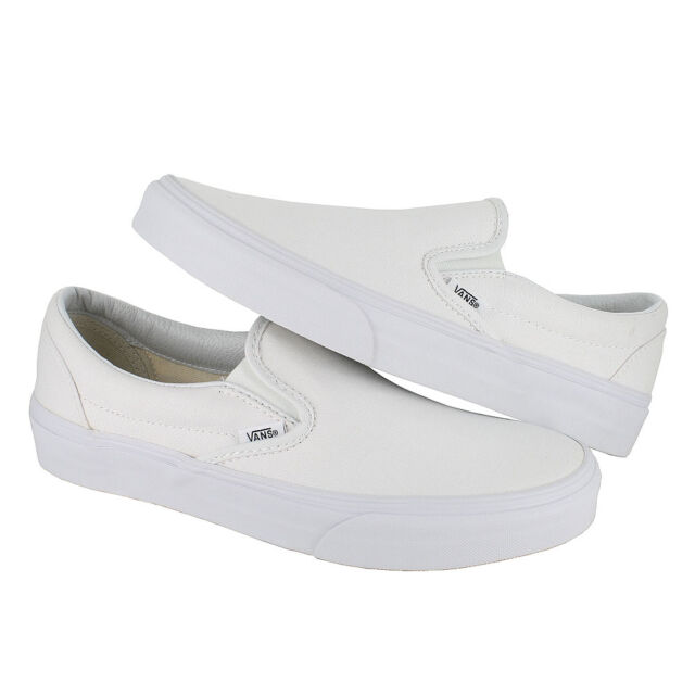 547cb1084f VANS Classic Slip on Shoes Canvas True White Men SNEAKERS VN 0eyew00 ...