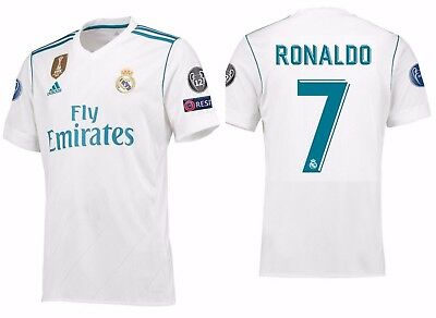 timeless design 2e451 e67f4 ADIDAS CRISTIANO RONALDO REAL MADRID UEFA CHAMPIONS LEAGUE HOME JERSEY  2017/18. | eBay