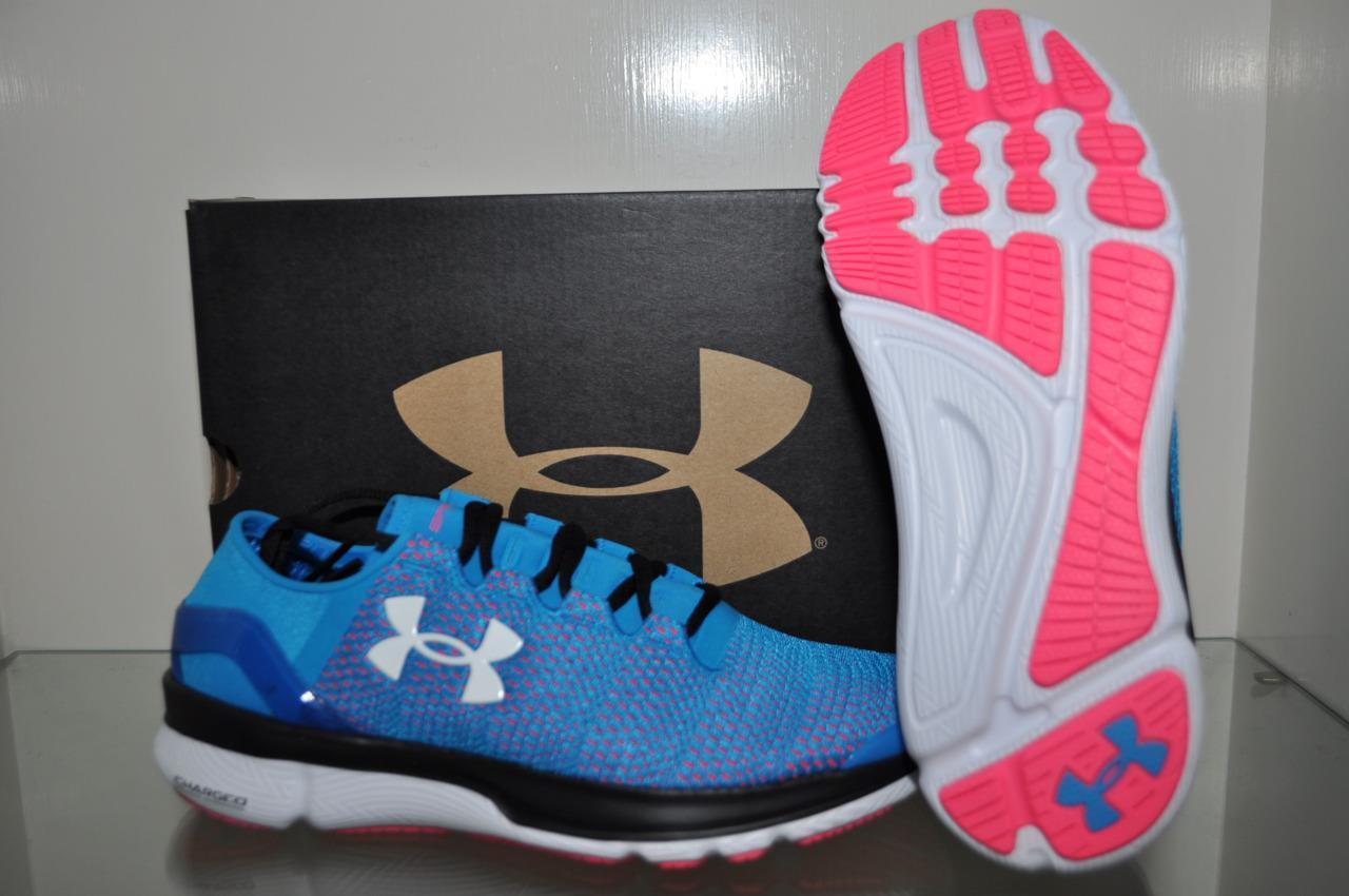 Under Armour SpeedForm Shoes Apollo 2 Womens Running Shoes SpeedForm 1266241 913 Teal/Pink NIB 101b22