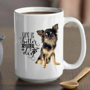 Life Is Better With A Chihuahua Premium Coffee Mug Teacup. Perfect Gift For Dog