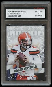 BAKER MAYFIELD 2018 LEAF PRIZED 1ST GRADED 10 ROOKIE CARD NFL CLEVELAND BROWNS