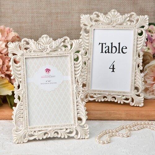 12 Antique Ivory Brushed Gold Table Number Frames Wedding Party Favor Décor