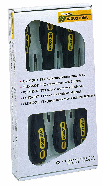 Proxxon Reihe 6 Torx-Schraubendreher ttx10-ttx15-ttx20-ttx25-ttx30-