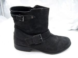 160-Clarks-Collection-8-5M-black-suede-Plaza-Float-Womens-Ankle-Boots-26101962
