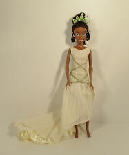 "2009 Glitter Wedding Dress Tiana 12"" Action Figure Doll Disney Princess & Frog"