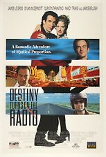 "1995 Quentin Tarantino Destiny Turns on the Radio 27"" x 40"" Movie Poster"