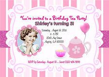 TEA PARTY CUSTOM PRINTABLE PHOTO BIRTHDAY PARTY INVITATION & FREE THANK U CARD