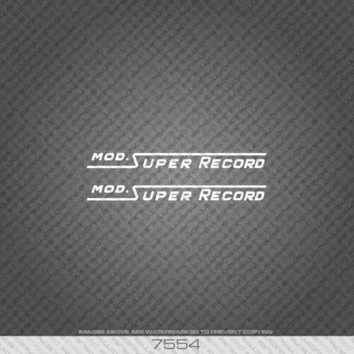 7554 Alan MOD Super Record Blanc Bicyclette Autocollants-Decals-Transferts
