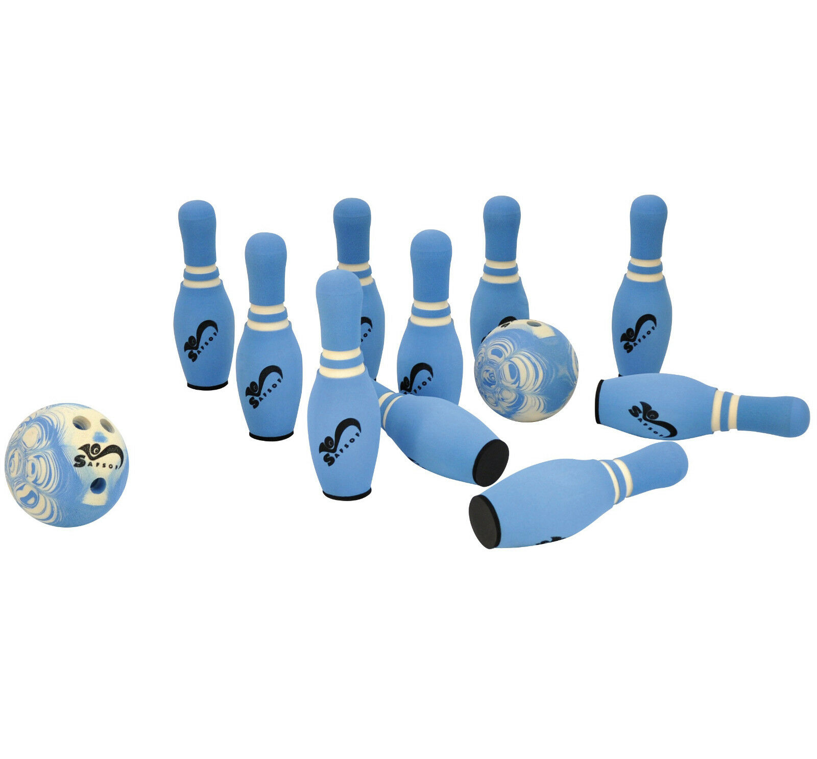EDUPLAY Kinder Soft Bowling 10 Kegel 34 cm    2 Kugeln Ø 17,5 cm Set 12-teilig NEU 2aaf34