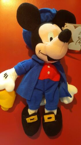 "a Disney Store Paul Revere 8/"" Mickey Mouse Bean Bag Beanie with tags"