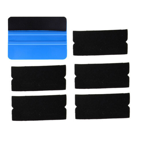 Edge Squeegee with 5 Extra Felts For Decals Sticker Vinyl Sheet Car Wrapping UK