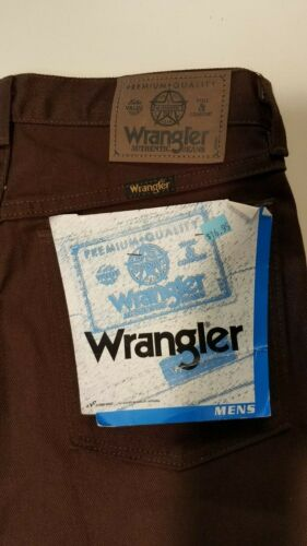 vintage brown WRANGLER JEANS 29 x 32 Deadstock NWT