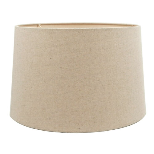 Oatmeal Fabric Hardback Drum Lampshade for Table Lamp Floor Lamp 14x16x10-Spider