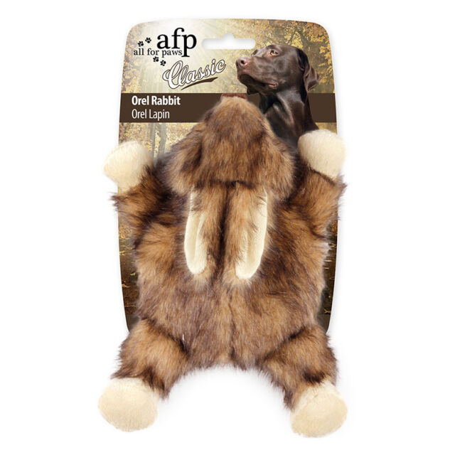 All For Paws CLASSIC OREL RABBIT Dog Toy Realistic Squeaker Eco Friendly