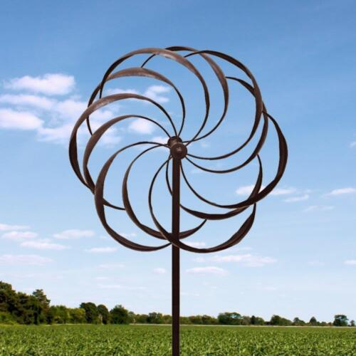Large 7/' Iron Kinetic Garden Windmill Metal Wind Spinner Outdoor Lawn Art Decor