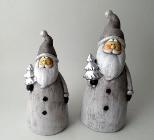 23cms or 28cms Standing Christmas Santa/'s with Glitter Detail