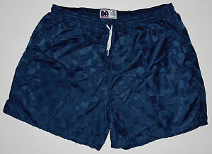 Don-Alleson-Navy-Blue-Checker-Nylon-Soccer-Shorts-Men-039-s-Large