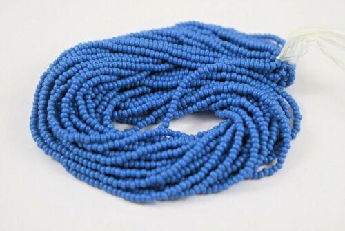 """Czech Glass Seed Beads Size 10//0 Opaque /"""" TEAL BLUE  /"""" 1 Hank"""