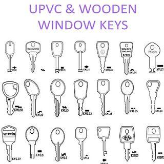 Mila Trinity Upvc Window Lock Handle Keys KWL44