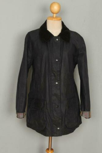 Womens BARBOUR Beadnell Waxed Jacket Navy Size USA