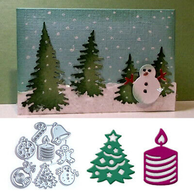 Metal Cutting Dies Mini Christmas Tree Snowman Bell Candy DIY Stencils Scrapbook