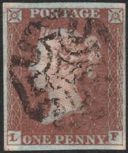 1841-SG10-1d-DEEP-RED-BROWN-PLATE-30-VERY-FINE-USED-4-MARGINS-FULL-CROSS-LF
