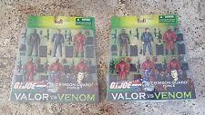 GI Joe Valor vs Venom Both Crimson Guard Force Tomax And Xamot 6 Packs MIP 2004
