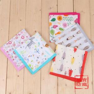 100-Combed-Cotton-Handkerchiefs-Hanky-Pocket-Square-Kids-Girls-Boys-New-35-35cm