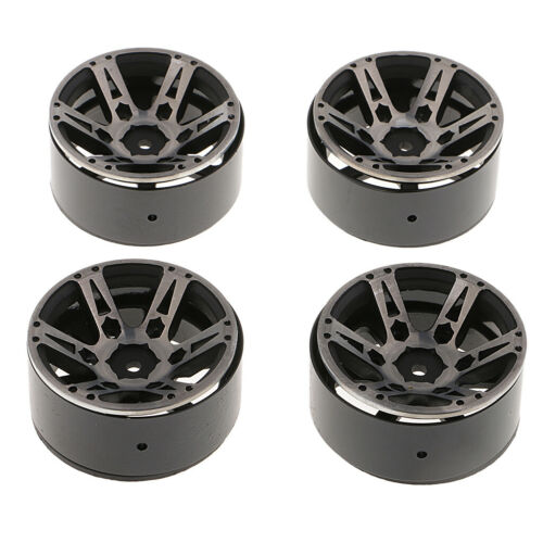 1.9 Inch Alloy Beadlock Wheel Rims for 1//10 Scale RC Rock Crawler Pack of 4