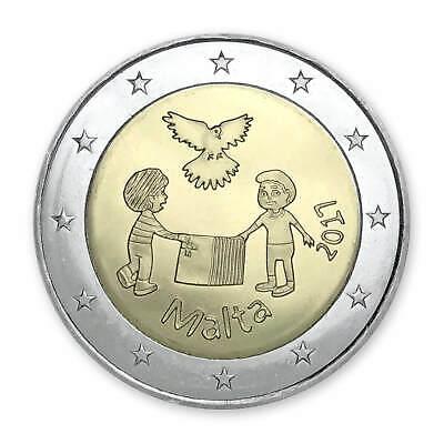 """Malta 2 euro coin 2016 /""""Children and Solidarity/"""" UNC"""
