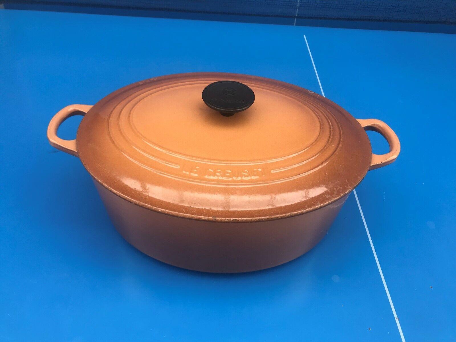 Le Creuset  GRANDE Cocotte OVALE EN Fonte Vintage MODELE N°31  marrón