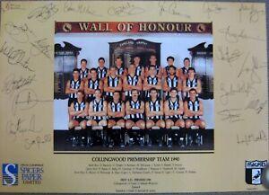 COLLINGWOOD-AFL-1990-LIMITED-EDITION-PREMIERSHIP-TEAM-POSTER-PRINT-SIGNED