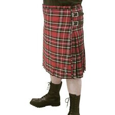 schwarzer Männer Kilt Baumwolle mit zwei Schnallen Gr 30 bis 46