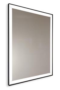 Specchio Bagno Nero.Dettagli Su Specchio Bagno Su Misura Sabbiato Retroilluminato Con Bordo Nero