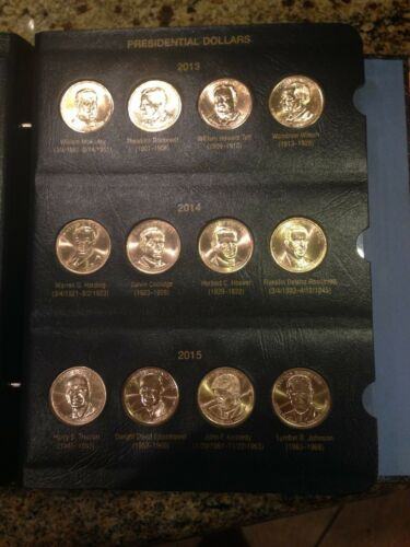 COMPLETE PRESIDENTIAL DOLLARS COIN COLLECTION TO DATE 36 coins