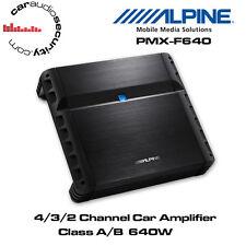 Alpine PMX-F640 - 4/3/2 Channel Class A/B Car Amplifier 640W Speaker Bass Amp