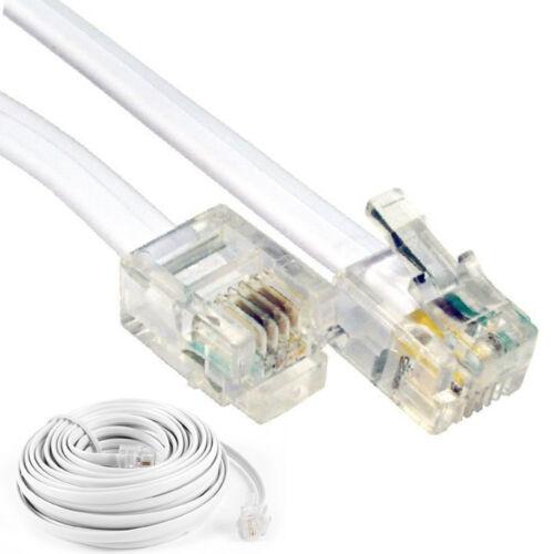 2m 3M 5m 10m 15 M 20m 25m Meter Rj11 zu Kabel ADSL Telefon Line Breitband