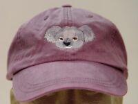 KOALA WILDLIFE HAT LADIES MEN SOLID COLOR BASEBALL CAP - Price Embroidery
