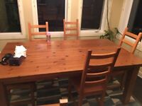 kitchen solid wooden desk with 6 chairs ... Edmonton Edmonton Area Preview
