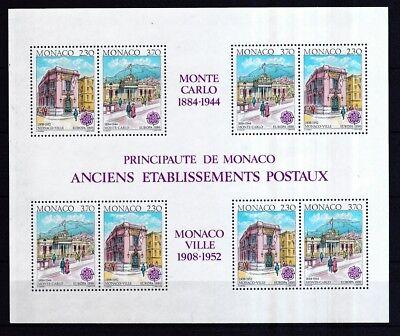 Monaco 1990 Postfrisch Minr StoßFest Und Antimagnetisch Block 47 Postalische Einrichtungen Wasserdicht