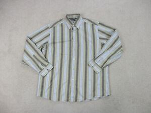 Ermenegildo-Zegna-Shirt-Adult-2XL-XXL-Brown-Long-Sleeve-Button-Up-Casual-Mens